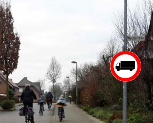Fotomontage_Verbotene Durchfahrt für LKW